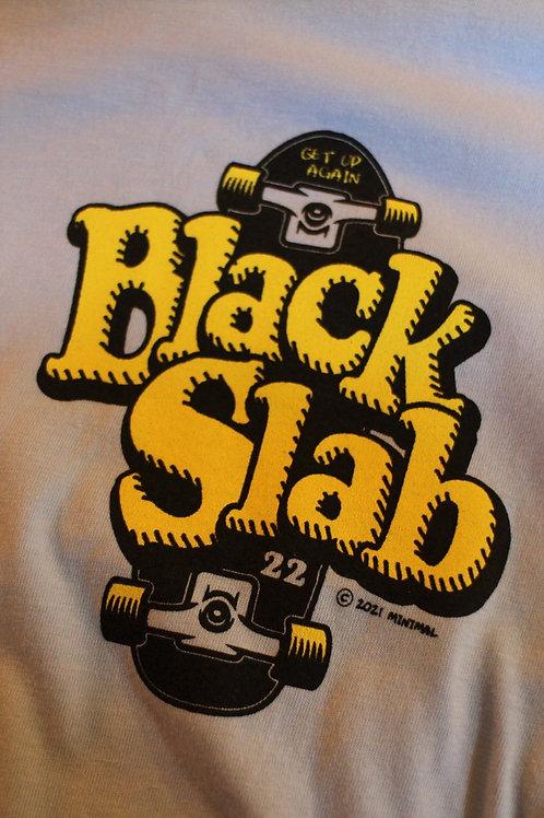 Black Slab Skate Tee - Sky Blue