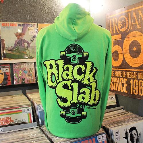 Black Slab Skate Hoodie - Green