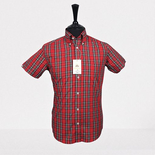 Real Hoxton Tartan Red Check Short Sleeves Shirt - 5217