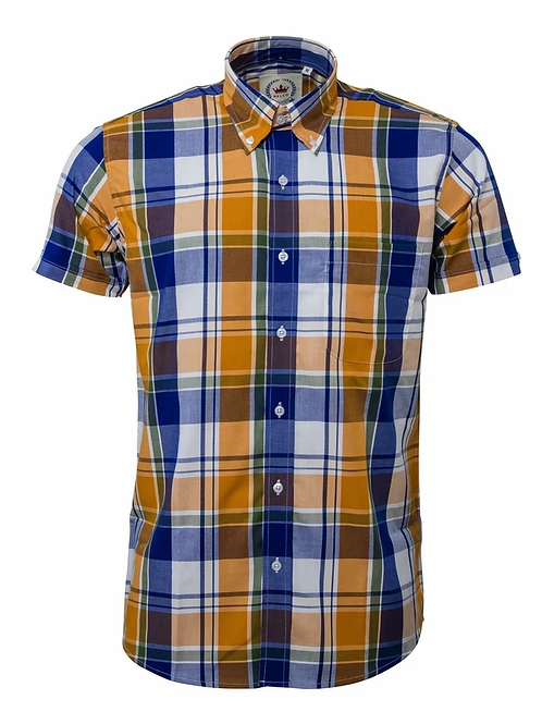 Relco Yellow Checkered Shirt - CK 43