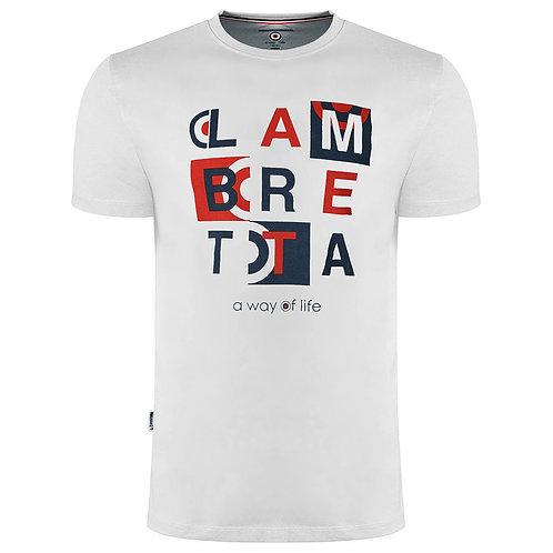 Lambretta Retro Box Tee White