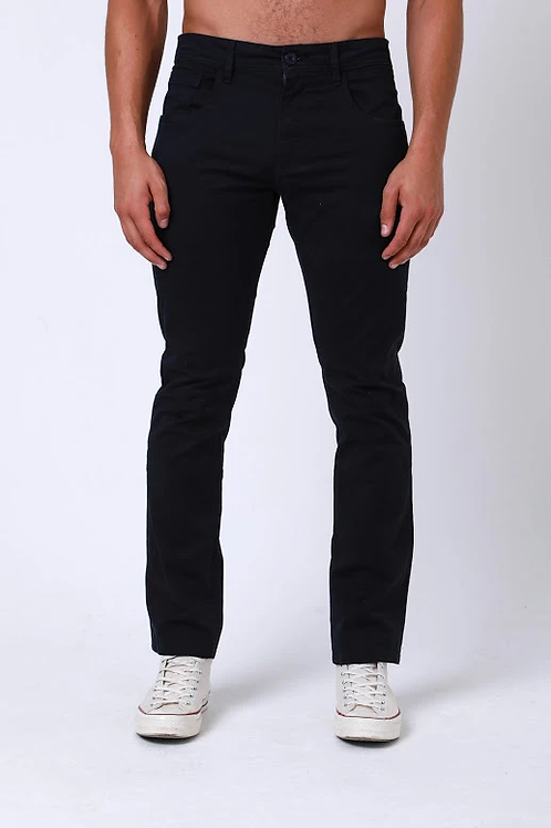 DML Calvin Slim Fit Five Pocket Chino - Navy