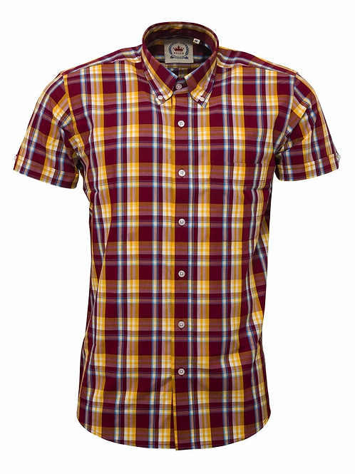 Relco Burgundy Check Shirt- CK-45