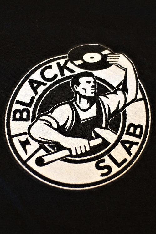 Black Slab Original 'Steely Dan' Logo Tee - Black