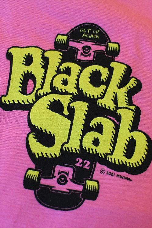 Black Slab Skate Tee - Pink