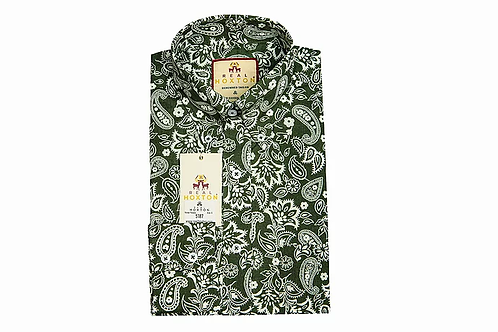 Real Hoxton Forest Paisley Long Sleeves Shirt - 5187