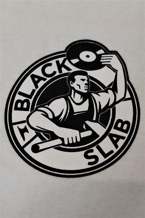 Black Slab Original 'Steely Dan' Logo Tee - White