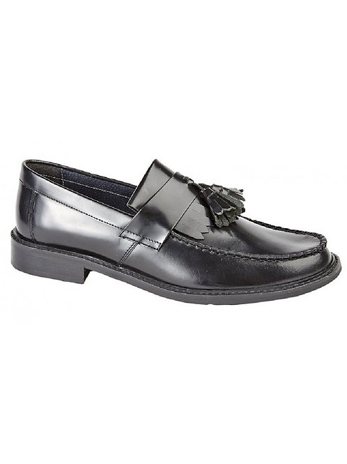 Classic Leather Tassel Loafers M900BD - Black