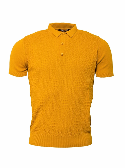 Relco Knitted Polo - Mustard - VS-4