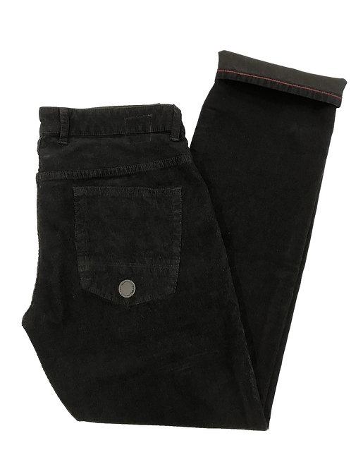 Ska & Soul Zip Fly Stretch Cord Slim Fit Jean SS/2248 Black