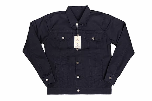Real Hoxton Trucker Jacket Navy - 6006