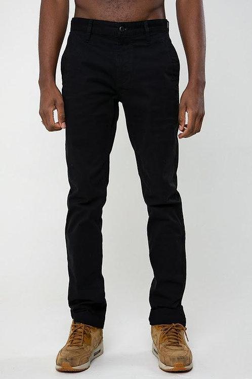 DML Calvin Slim Fit Five Pocket Chino - Black