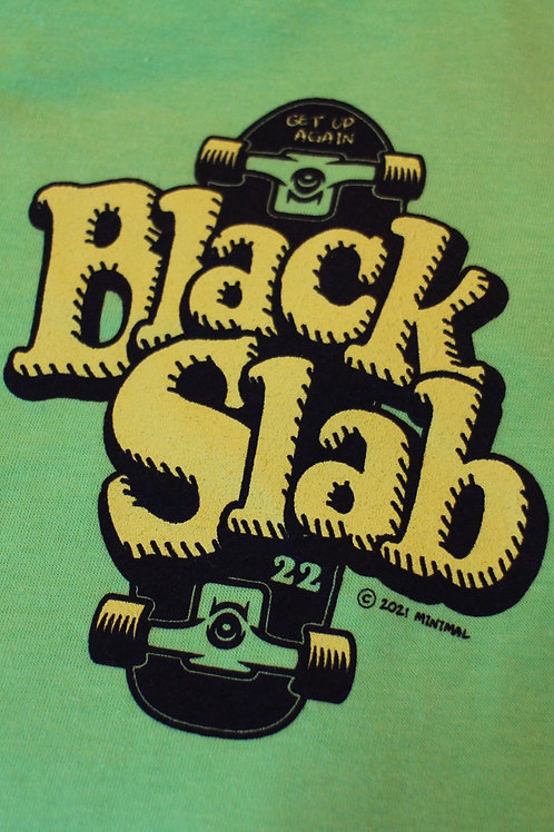 Black Slab Skate Tee - Green