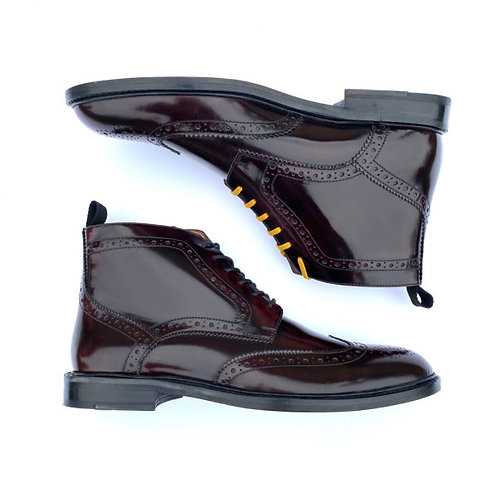 Delicious Junction Garrison Brogue Boot – Oxblood