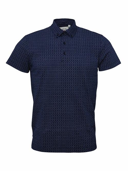 Relco Men's Navy Printed Polo Shirt - Polo 6
