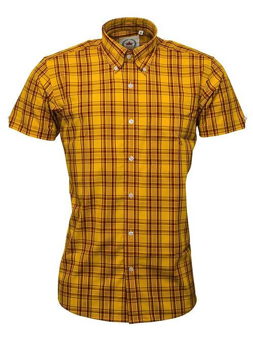 Relco  Mustard Check Shirt- CK-47