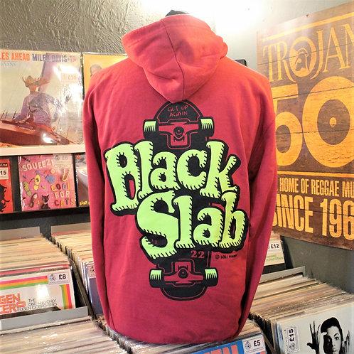 Black Slab Skate Hoodie - Red