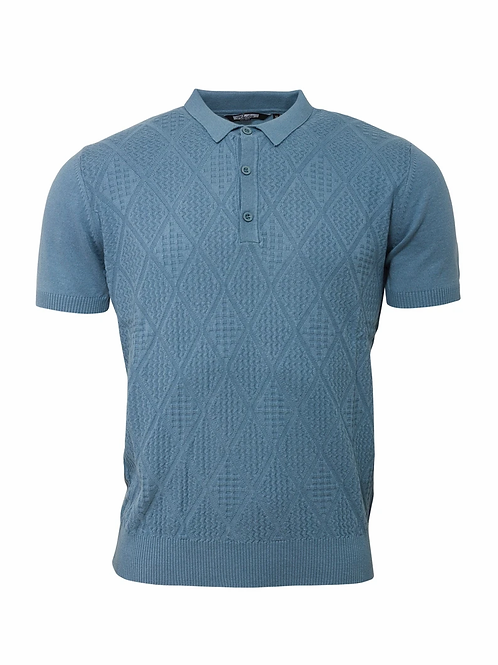 Relco Knitted Polo - Blue - VS-4