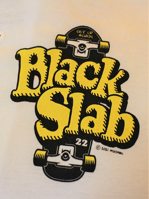 Black Slab Skate Tee - White