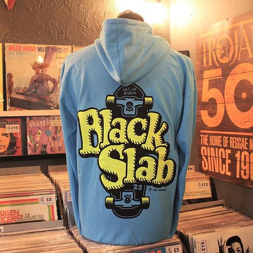 Black Slab Skate Hoodie - Blue