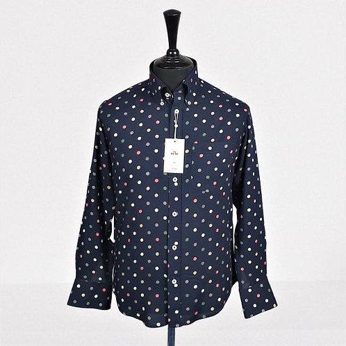 Real Hoxton Blue Multi Polka Long Sleeves Shirt - 5246