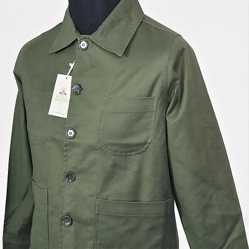 Real Hoxton Chore Jacket Olive - 6005