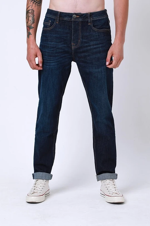 DML Colt Relaxed Taper Stretch Jeans - Dark Wash