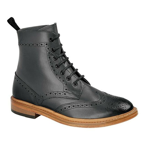 Kensington Brogue Boots M783A - Black