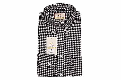 Real Hoxton Houndstooth Long Sleeves Shirt - 5203