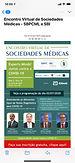 ENCONTRO VIRTUAL DE SOCIEDADES MÉDICAS: Experts Minds! Juntos contra a COVID-19