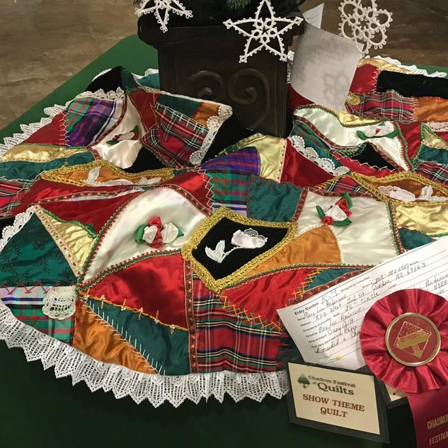 Crazy Quilt Christmas Tree Skirt
