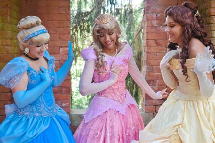 Cinderella, Aurora, and Belle