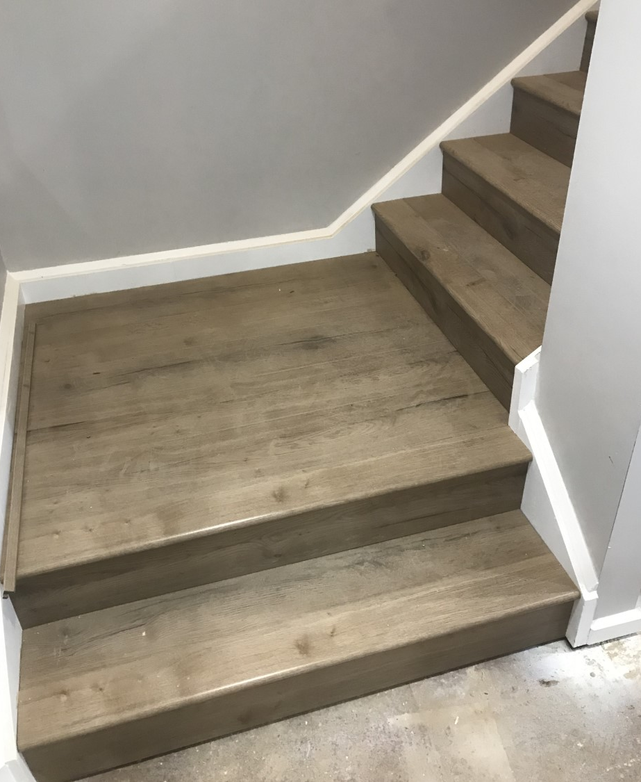 Laminate Stairs installed
