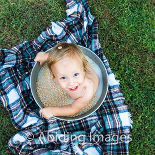 Goldsboro Kids One Year Family Photographer NC