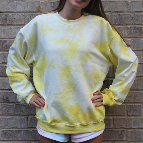 Just Yellow Tie Dye Crewneck