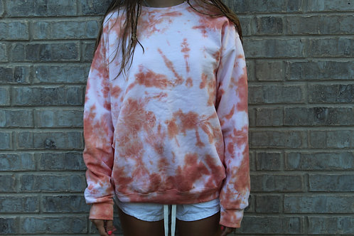 Just Orange Tie Dye Crewneck