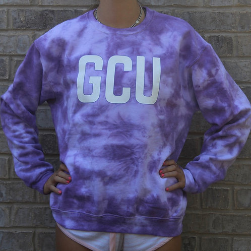 Custom Purple Tie Dye Sweatshirt