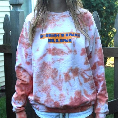 Custom Orange Tie Dye Crewneck