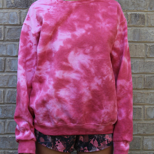 Just Red Tie Dye Crewneck