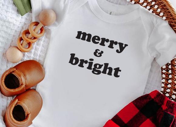 merry & bright onesie