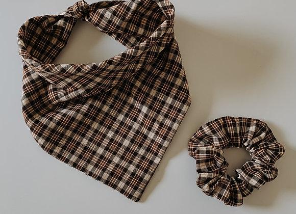 rustic plaid bandana