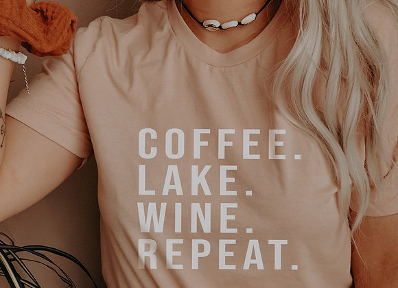 coffee. lake. wine. repeat.