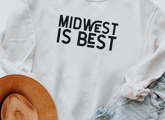 midwest is best crew neck