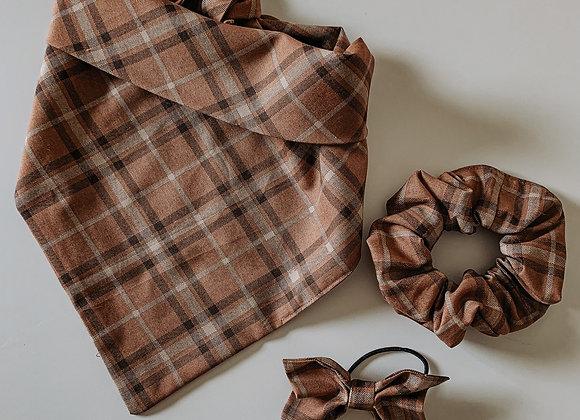 rust plaid bandana