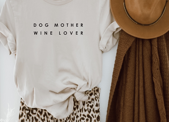 dog mother wine lover simple