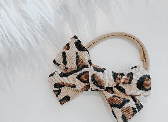 leopard corduroy headband