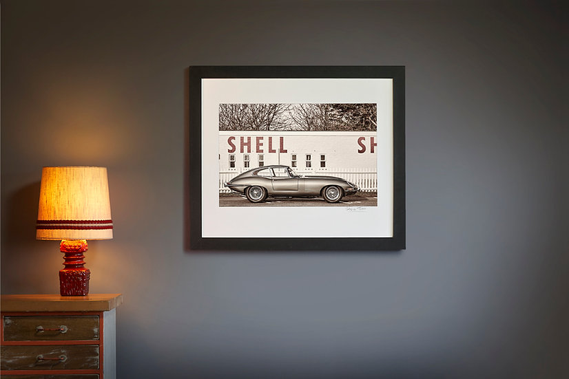 E Type Jaguar Shell Garage
