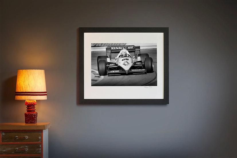 Alain Prost Renault RE40 Brands Hatch 1983