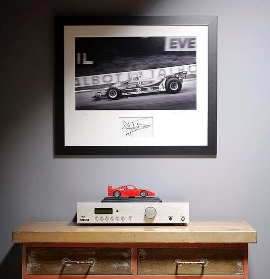 Jody Scheckter Ferrari T5 Brands Hatch 1980 Signed by Driver