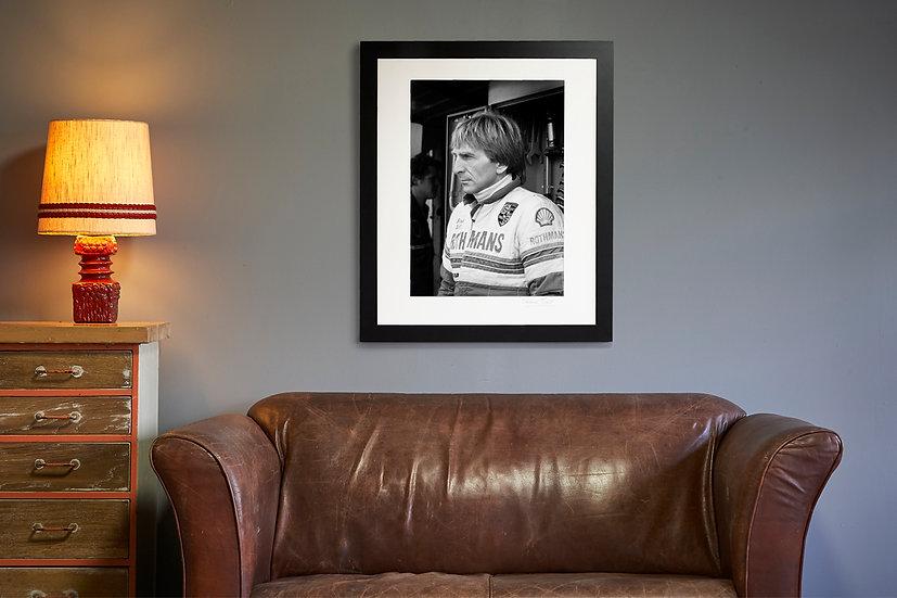 Derek Bell Portrait Brands Hatch 1982